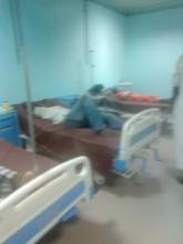 صورة لبعض المصابين داخل مستوصف بابابى